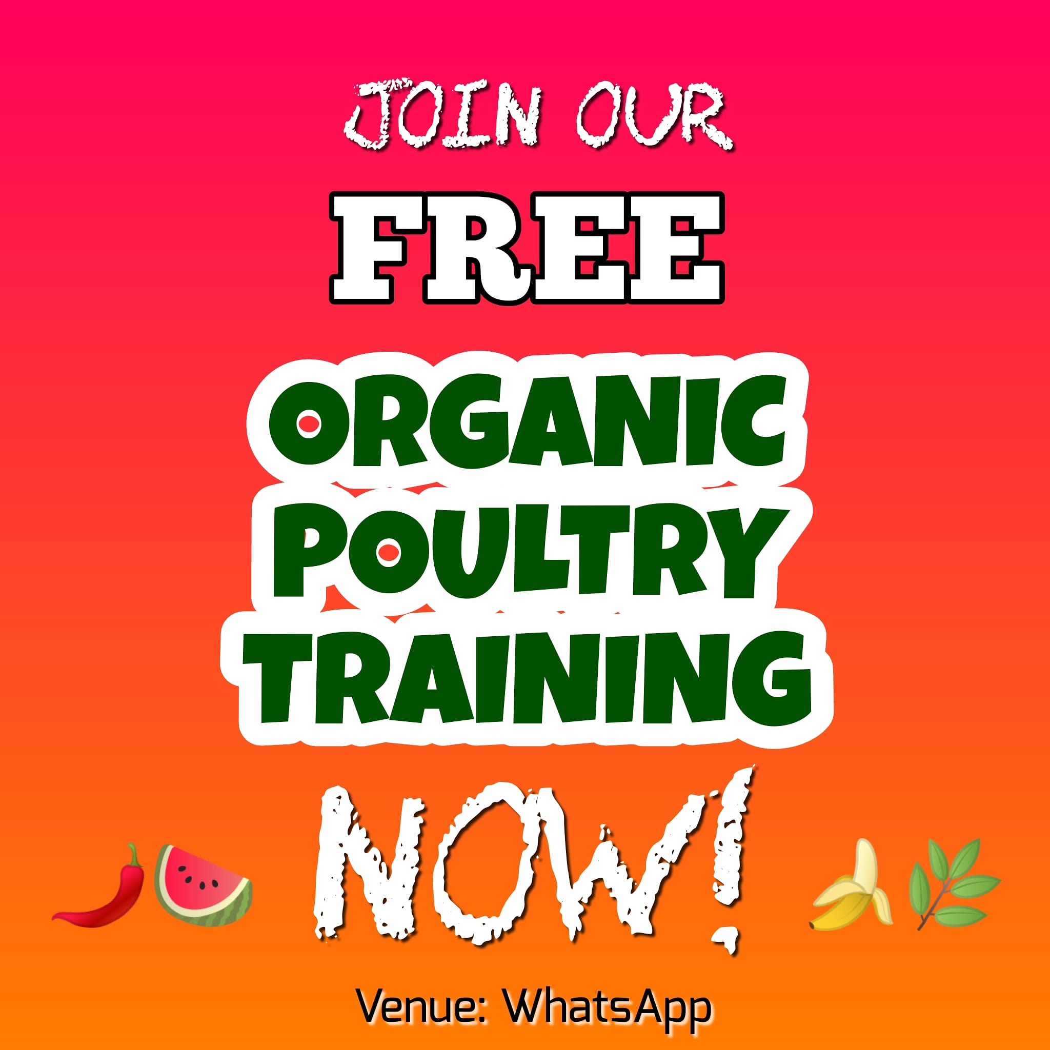 Organic poultry workshop